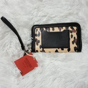 Mossimo Black cheetah leopard wristlet wallet